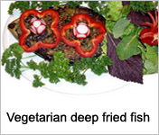 Vegetarian deep fried fish