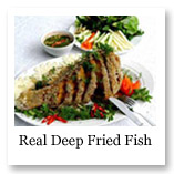 Real deep fried fish